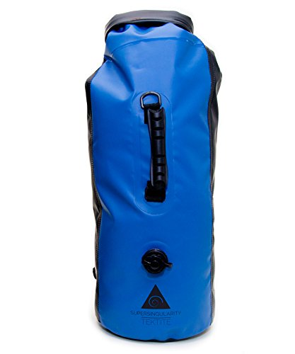 SUPERSINGULARITY Waterproof Compression Backpack, 30L - Blue and Black
