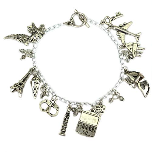 Athena Brand 50 Shades of Grey Charm Bracelet