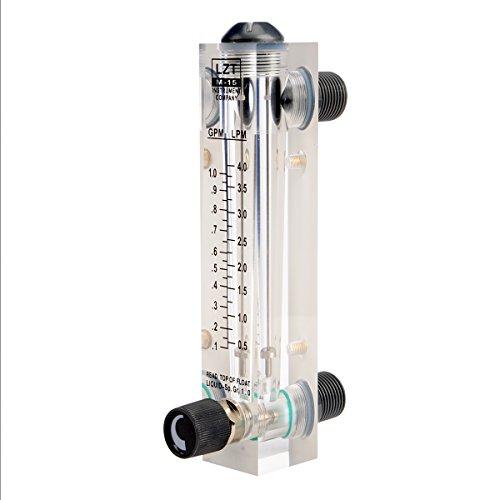 Saim 0.1-1GPM 0.5-4LPM Water Liquid Flow Meter Tool Flowmeter Instrument 0.1 Liquid