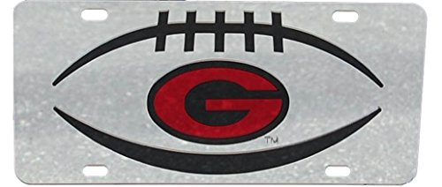 Craftique University of Georgia Bulldogs Laser Cut Football Car Tag-Si
