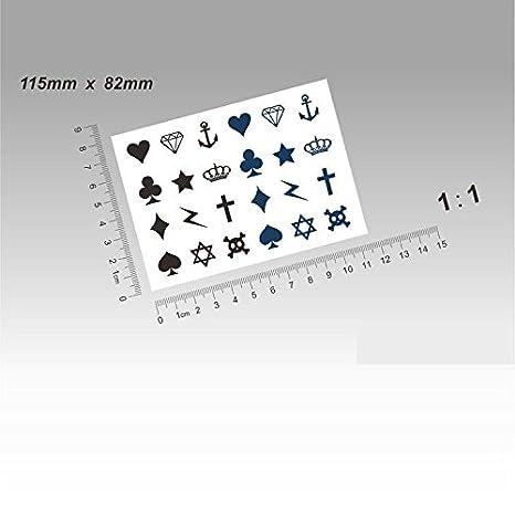 Zokey impermeable tatuaje temporal cruz dedos rayo tótem GFWS143 ...