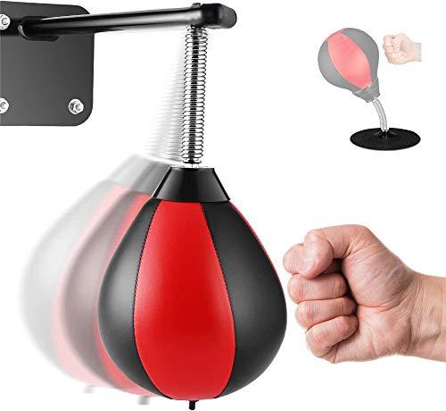 BIZBON Speed Bag/Wall Hanging Boxing Punching Bag/Stress Relief Training Ball/Desktop Punching Bag with Powerful Desktop…