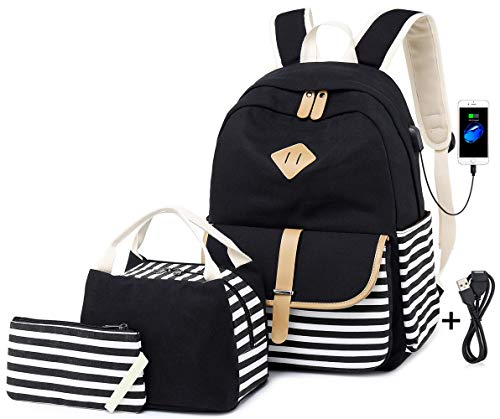 Sac Collège Portable 15 6' Ordinateur Toile Backpack Dos Cartable pUzqSMV