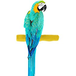 Sweet Feet and Beak Comfort Grip Safety Perch for Birds by Patented Perch Keeps Nails and Beak in Top Condition - Safe and Non-Toxic, For Cages – Large/Yellow