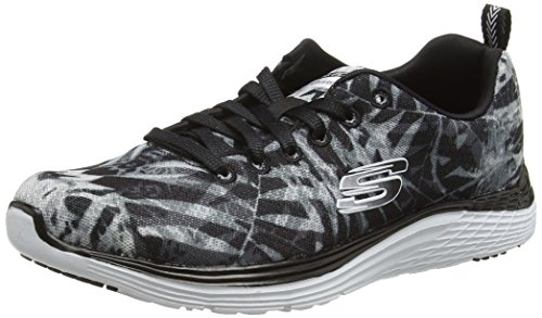 SkechersValeris Mai Tai - Zapatillas de running mujer Negro - Black (Bkw)