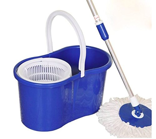 Stainless Steel Spin Mop 360 with reusable microfiber mop ()