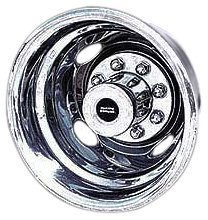 Pacific Dualies 32-1950A Polished 19.5 Inch 8 Lug Polished Stainless Steel Wheel Stimulator Kit for 2003-2004 Ford F450/F550 Truck