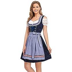 BENNIES Trachtenkleid Damen Dirndl Trachtenmode Midi Kleid für Oktoberfest