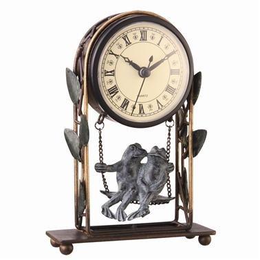 Romancing Frogs Desk Clock (Frog Desk Clock)