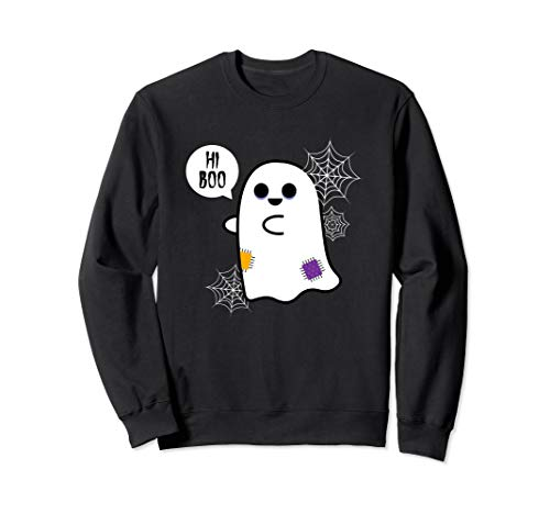 Hi Boo Cute Spooky Ghost Crewneck -