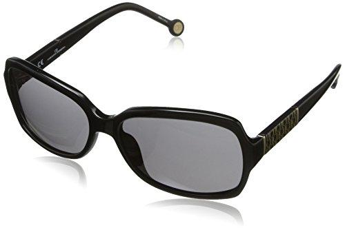 Carolina Herrera Women's SHE538-700X Square Sunglasses,Black & Beige,58 - Herrera Carolina Sunglasses