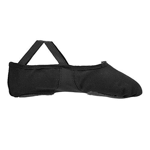 Shoes Black Ballet Sole Split Starlite Canvas Flexi 8pStft