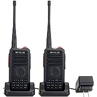 Retevis RT25 Walkie Talkies UHF 400-470MHz 16 CH 5 W VOX Scrambler Squelch Security 2 way radio (Black,2 Pack)