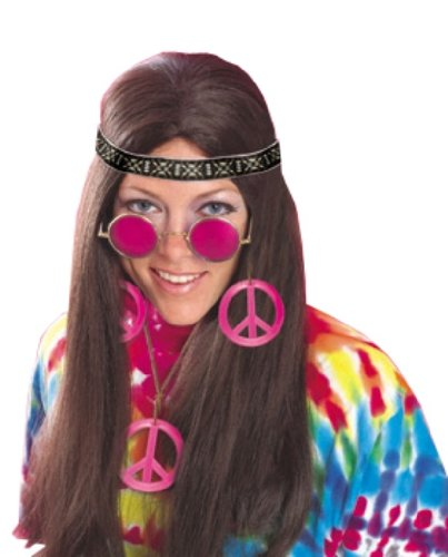Groovy Hippie Costumes (Rubie's Costume Feeling Groovy Female Hippy Accessory Kit, Multicolored, One Size)
