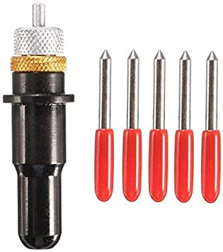SUCAN Plotter de corte negro de 12 mm con cuchillas de 5 piezas 30/45/60 grados para soporte de cuchilla de corte de vinilo Roland - 45 °: Amazon.es: Bricolaje y herramientas