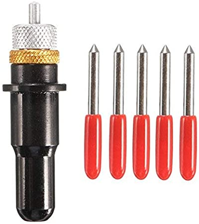Plotter de corte negro 12mm con cuchillas de 5 piezas 30/45/60 grados para el portacuchillas de corte de vinilo Roland - 45 °: Amazon.es: Bricolaje y herramientas