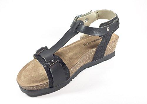 INBLU - Sandalias de vestir de Piel para mujer multicolor multicolor 35 negro