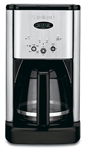 Cuisinart DCC-1200 Brew Central 12 Cup Programmable Coffeemaker, Black/Silver (Best 12 Cup Coffee Maker)