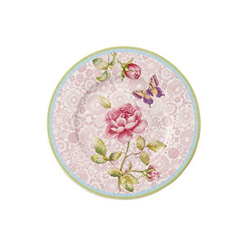 Villeroy & Boch Rose Cottage Breakfast Plate, 22 cm, Premium Porcelain, Pink