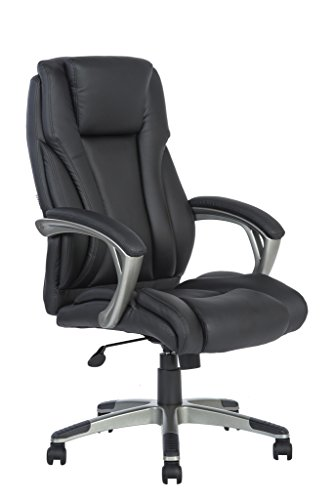 LCH Ergonomic High Back Executive PU Leather Computer Desk Office Chair with Padded Arms, KD1009