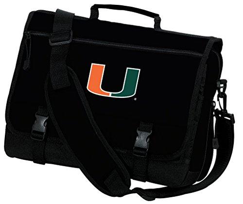 Broad Bay University of Miami Laptop Bag Miami Canes Computer Bag or Messenger Bag by Broad Bay