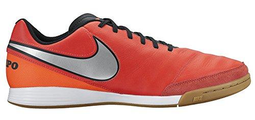 Nike Men's Tiempo Genio II Leather IC Indoor Soccer Shoe (Sz. 9.5) Light Crimson