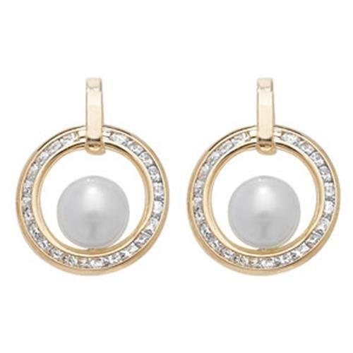 9ct Boucles d'oreilles clous avec perle