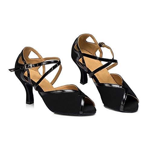 Boca ll Salón Cuadrados De Pescado Alto Tacon Black6cm Baile Zapatos Adulto Whl Mujer Blando Fondo Acogedor Sandalias 8AfOwqx8d