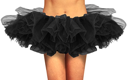 [Organza Tutu Black] (Tutus For Adults)