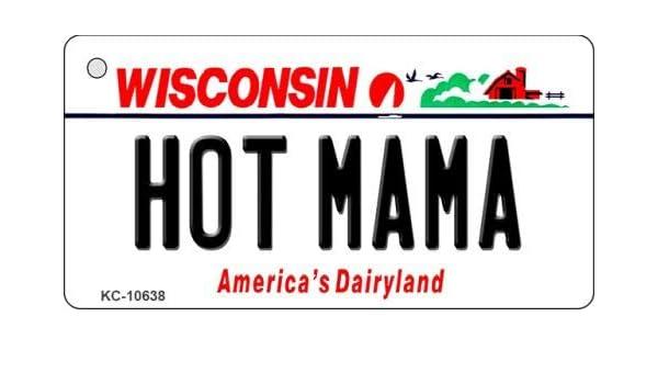 Amazon Com Hot Mama Wisconsin License Plate Tag Novelty Key Chain Kc 10638 Sports Outdoors