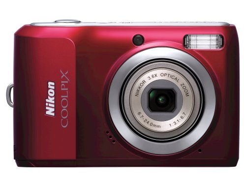 Wallace Glass Print (Nikon Coolpix L20 10MP Digital Camera with 3.6 Optical Zoom and 3 inch LCD, (Deep Red))