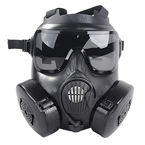 RONGT Full Face Airsoft Mask - Protective Skull Costume Mask, Outdoor CS Games Costume Mask for Women Men Paintball CS War Game Halloween Party -