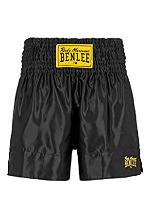 BENLEE Rocky Marciano Men's Thai Boxing Shorts, Men, Thaiboxhose, black 199163
