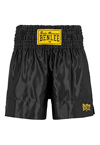 BENLEE Rocky Marciano Men's Thai Boxing Shorts, Men, Thaiboxhose, black 199163