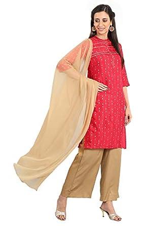 Aurelia Women's Silk Straight Kurta