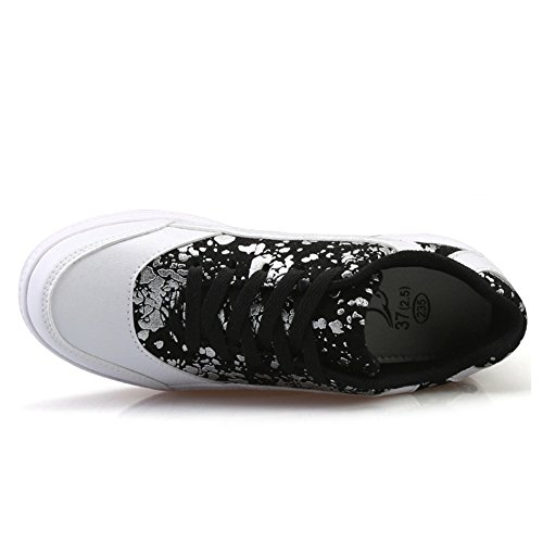 With on By Lace Heel Shoes Casual Sneakers Keep Warm Fashion White Travel Womens Btrada XzSxBB
