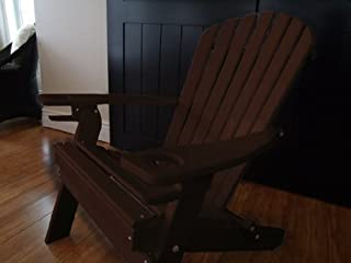 product image for Poly Recycled Plastic Adirondack Chair with One Cupholder-Tudor Brown