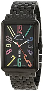Stuhrling Original Men's 1102B.33591 Symphony Uptown Ozzie XL Elite Swiss Quartz Black IP Plated Watch