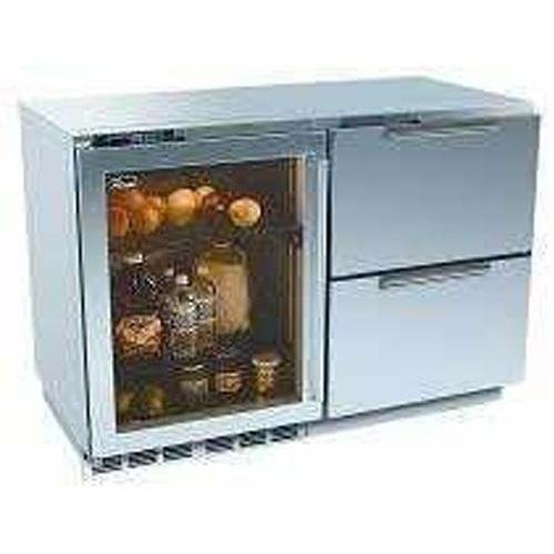 Perlick Built In Double Refrigerators With Overlay Glass Door And Integrated Drawers (Requires Custom ()