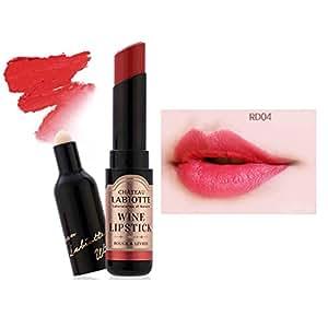 [LABIOTTE] Wine Matte Lipstick 0.12oz (3.5g) 4 Colors 04 Sauterne Red EXO Lotto Lipstick by [LABIOTTE]