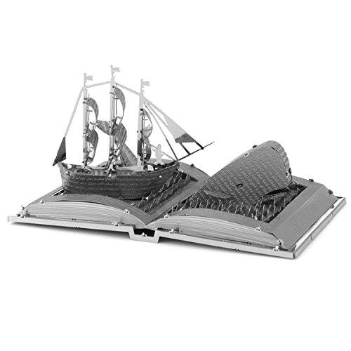 Fascinations Metal Earth Moby Dick Book Sculpture 3D Metal Model Kit