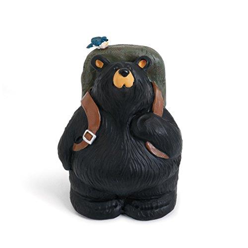 DEMDACO Walk About Black Bear 5.5 x 3.5 Hand-cast Resin Figurine Sculpture