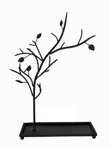 Iron Wrought Branch (Jewelry Tree Organizer Stand - Metal with Black Rustic Finish)