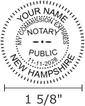 Round Notary Stamp for State of New Hampshire Self Inking Unit Ideal 400r with Advanced Durability