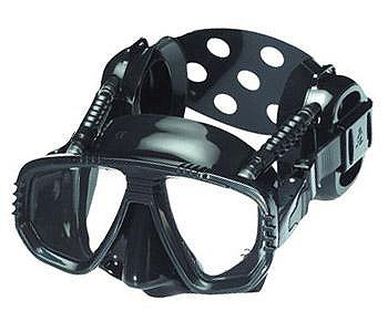 Pro Ear Scuba Diving Mask for all around Ear Protection - All Black Scuba Div... ()