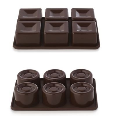 2 Traditional Chocolate Moulds - Make 6 Round & 6 Square Chocolates lakeland