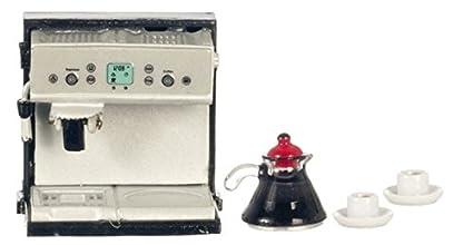 Amazon.com: Dollhouse miniatura Expresso/máquina de café con ...