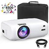 GuDee Mini Projector, Portable Video Projector, 4500 Lux Full HD 1080P Projector, 200