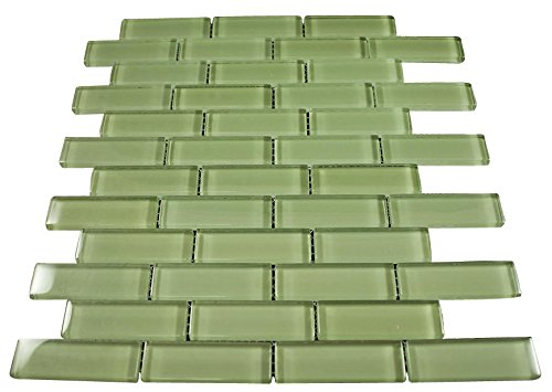 Glossy Lake Green Subway Glass Mosaic Tiles for Bathroom and Kitchen Walls Kitchen Backsplashes By Vogue Tile by Vogue Tile
