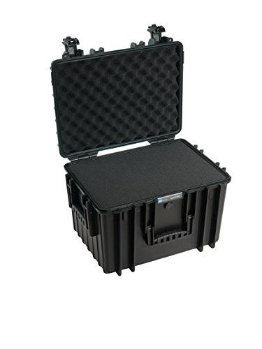 B&W International 5500/B/SI 5500 Outdoor Case with SI Foam Durable Type, Black